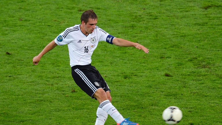 Philipp Lahm of Germany in action