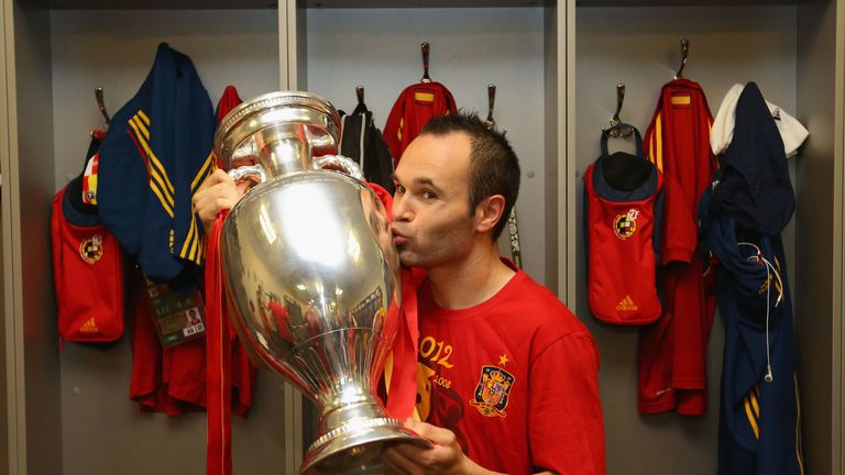 Iniesta has won the European Championships twice before with Spain