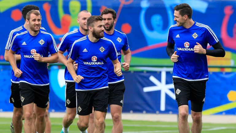 Northern Ireland were put through their paces in training on Saturday