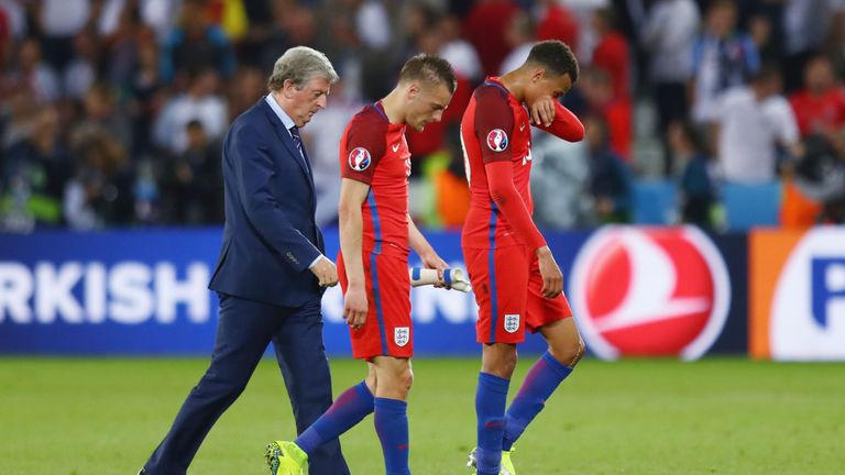 England were eliminated in the first knockout round at Euro 2016 under Hodgson