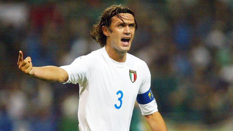 Paolo Maldini made the team of the tournament three times