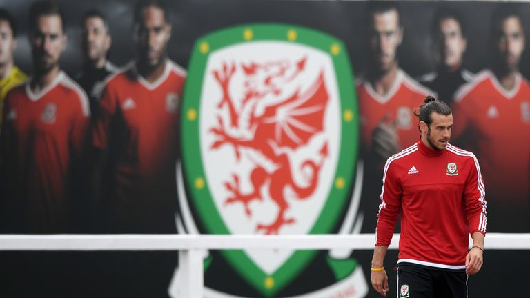 Gareth Bale was the star attraction at the Wales training session