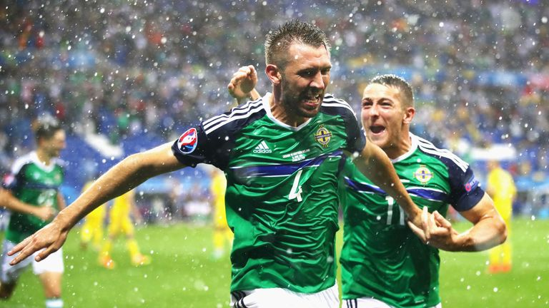 Gareth McAuley scored Northern Ireland's first goal at a major tournament in 30 years which saw him become the second-oldest scorer at the Euros