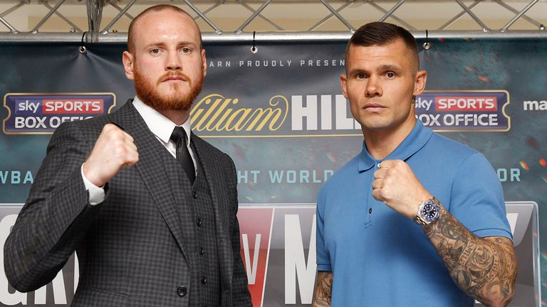 George Groves (L) believes this could be Martin Murray's (R) last fight (Picture: Lawrence Lustig)