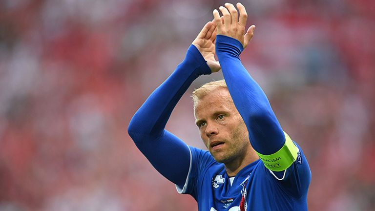 Eidur Gudjohnsen turned out for Iceland at Euro 2016