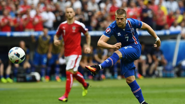 Iceland striker Johann Berg Gudmundsson could be on the move to Burnley