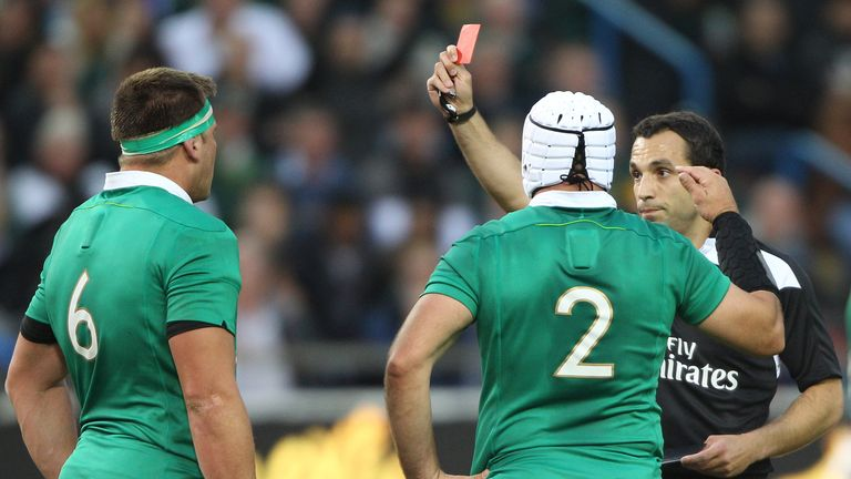 Ireland's CJ Stander will serve a one-week ban for his red card against South Africa