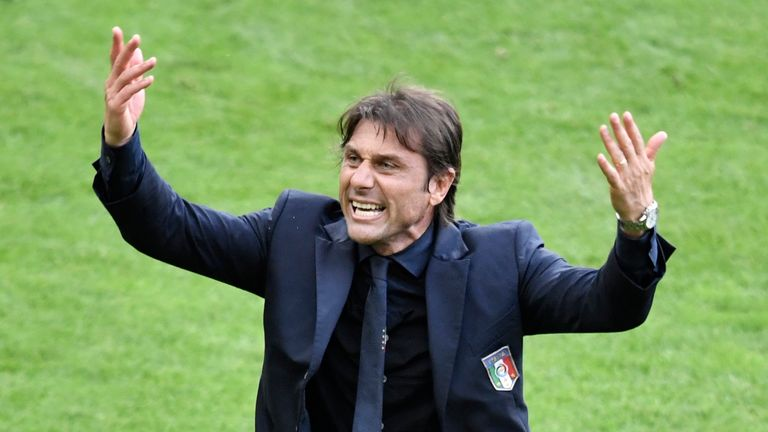 Antonio Conte is known for his eye-catching touchline celebrations