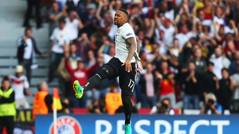 Jerome Boateng opened the scoring for Germany against Slovakia after eight minutes