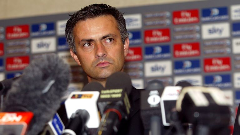 Jose Mourinho's previous unveilings haven't lacked in entertainment