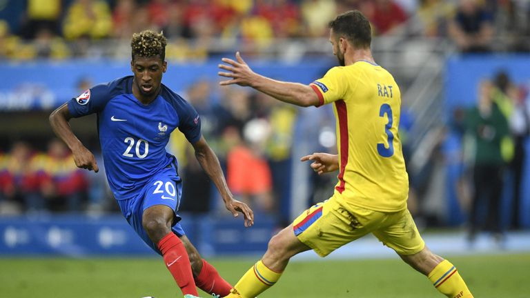 France midfielder Kingsley Coman (left) plays a similar style to Lozano