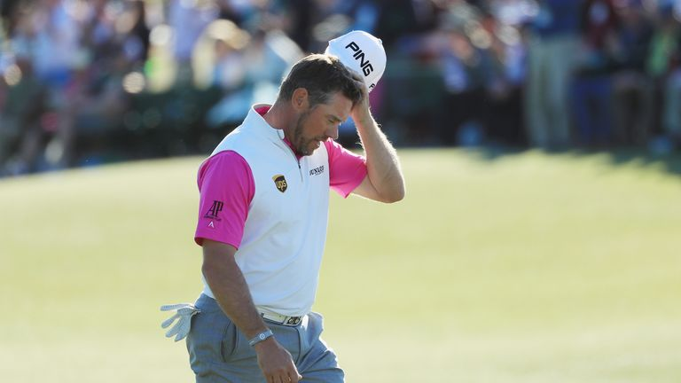 Lee Westwood's tale of major misery continued at Augusta