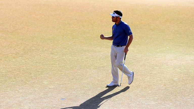 Oosthuizen set the clubhouse target with a record-breaking back nine