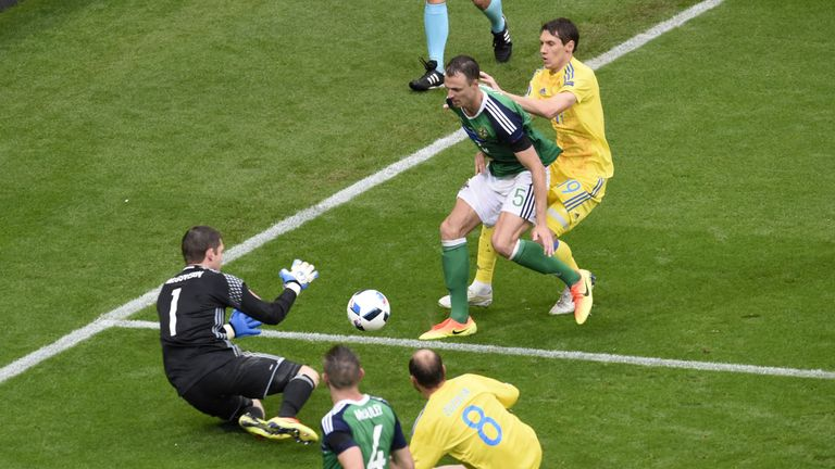 Ukraine could not get past Michael McGovern and the Northern Ireland defence