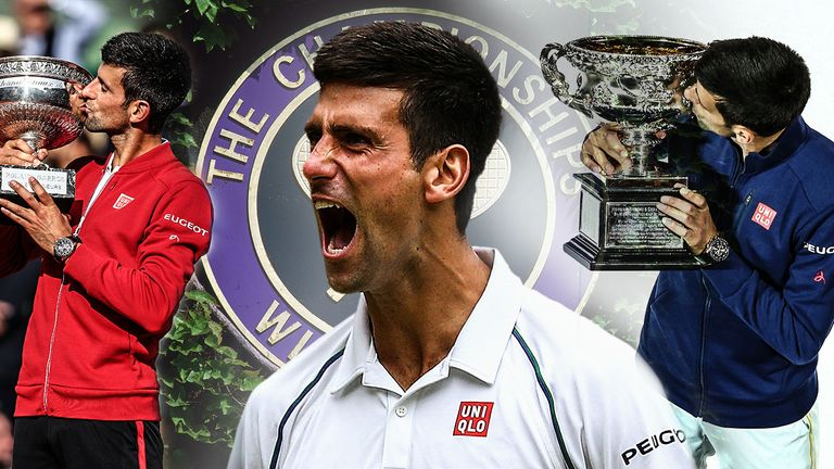 Novak Djokovic heads to Wimbledon chasing a third Grand Slam title of the year