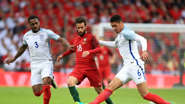 Silva in action for Portugal at Wembley during pre-Euro 2016 friendly against England