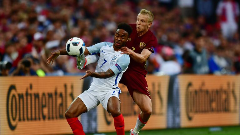 Who out of the England cricket team resembles Raheem Sterling in their style of football?