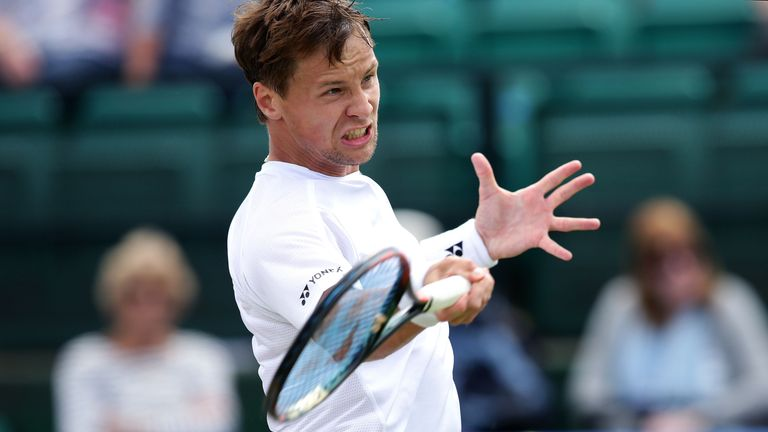 Lithuania's Ricardas Berankis will provide Willis' first round opposition at Wimbledon