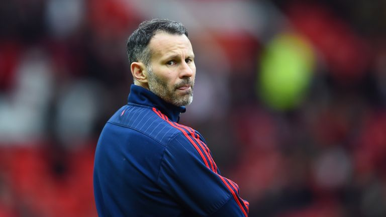 Ryan Giggs took charge of Manchester United for four games after David Moyes was sacked in April 2014