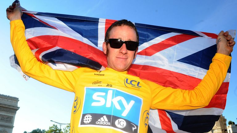 Wiggins became the first British rider to win the Tour de France in 2012