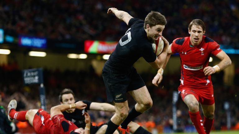 Beauden Barrett starred as New Zealand edged past Wales in 2014