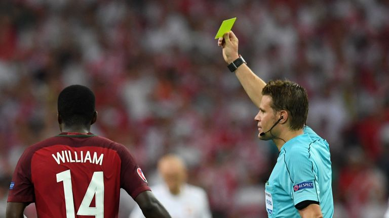 William Carvalho will miss the semi-final game after picking up a second booking