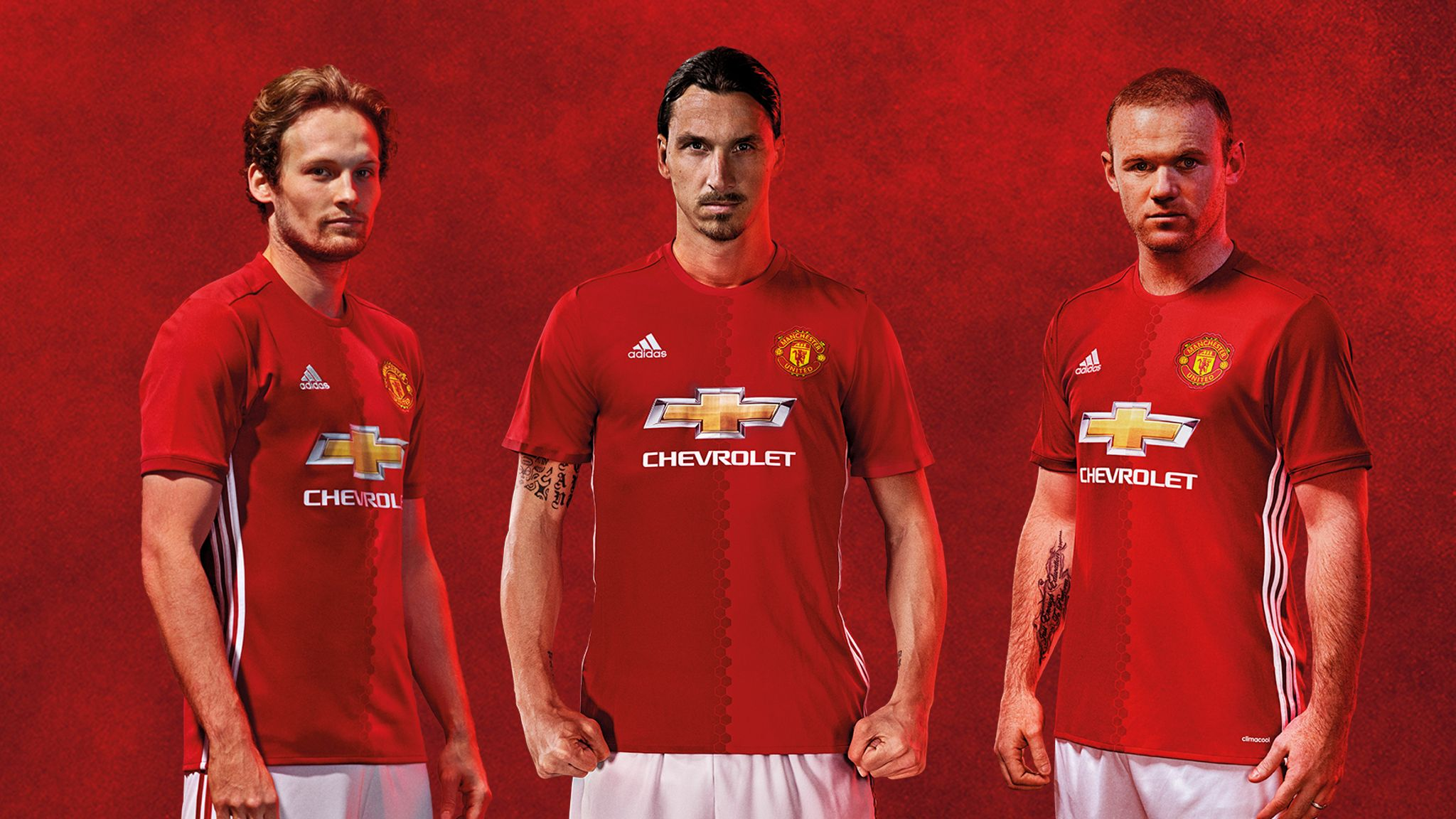 55a9c0bd3 Manchester United launch new adidas home kit for 2016/17 | Football News |  Sky Sports