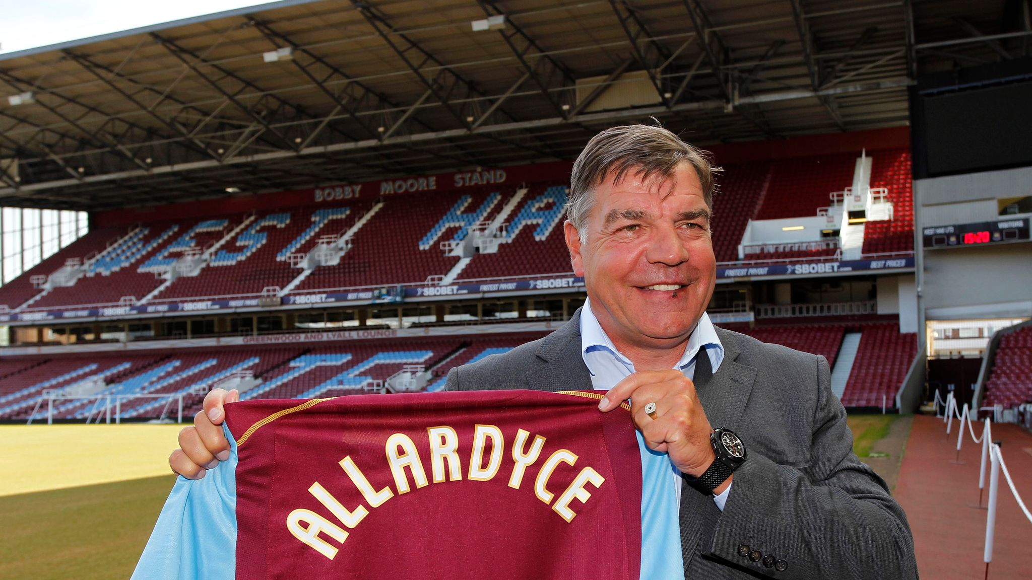 England S Sam Allardyce His Record Career In Numbers And In Tray