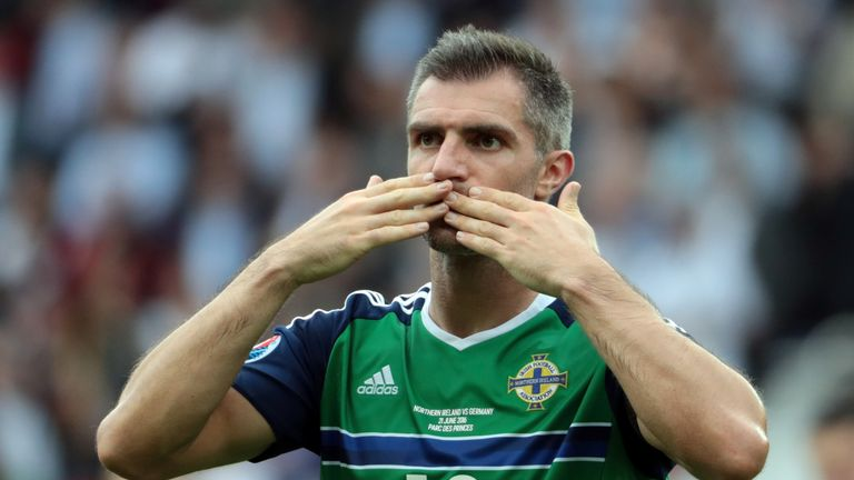 Northern Ireland's defender Aaron Hughes is currently playing his club football in India