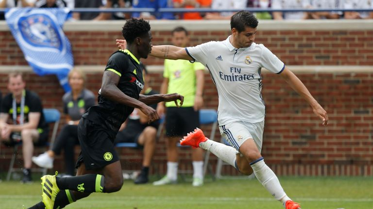 Alvaro Morata featured against Chelsea on Saturday