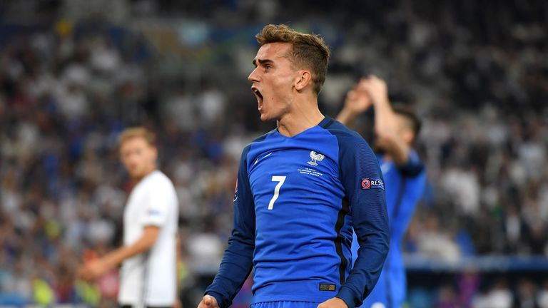 Antoine Griezmann scored twice to send France to the Euro 2016 final