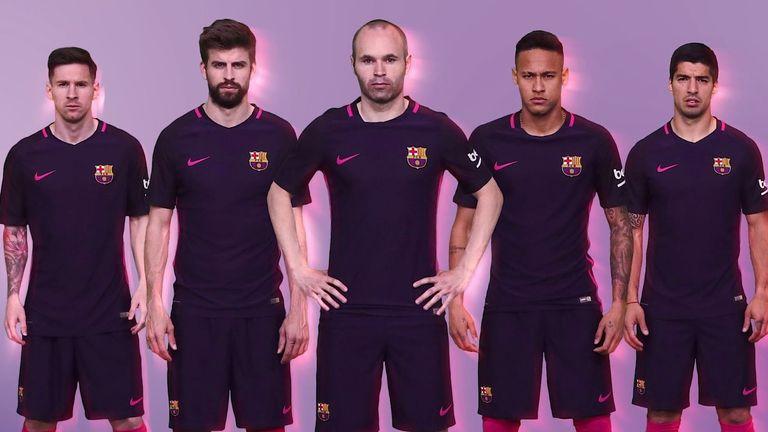 03efe8c34 Barcelona unveil purple away kit for 2016 17 season