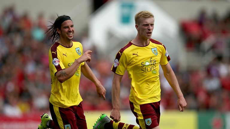Ben Mee (right) says he feels at home at Burnley