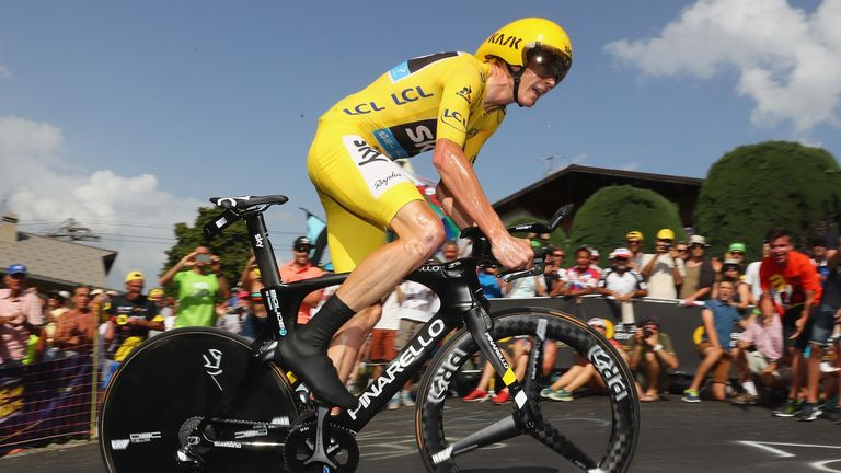 Froome won one of the Tour's two time trials and finished second in the other