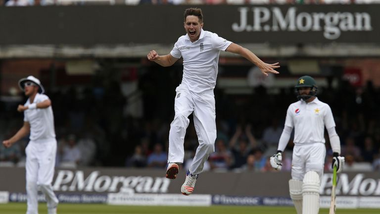 Woakes took 11 wickets in a losing cause for England against Pakistan in 2016