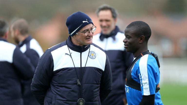 Claudio Ranieri (left) has previously said he wants Kante to stay at Leicester