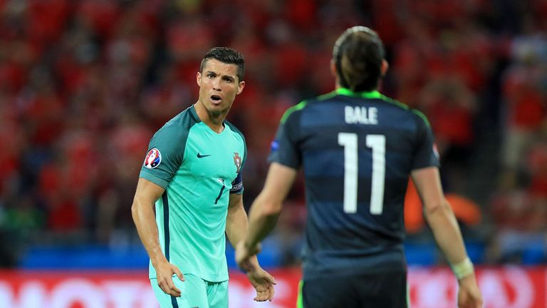 Ronaldo had the better of things up against his Real Madrid team-mate