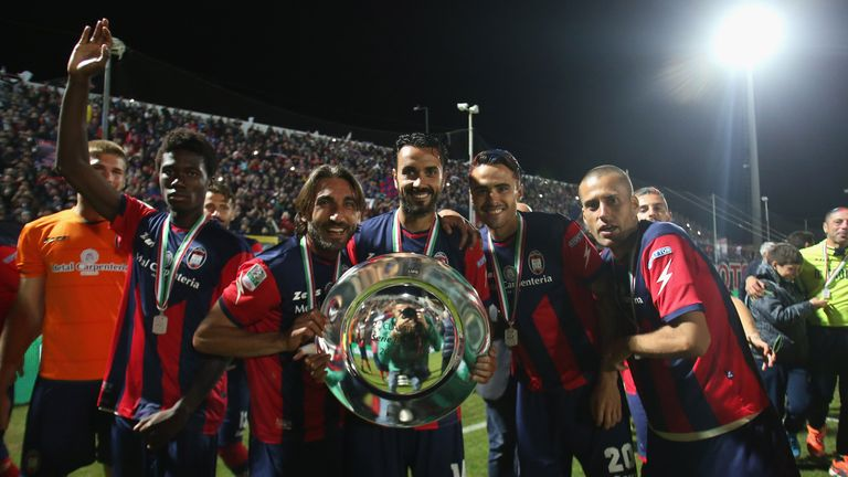 Crotone finished runners up in Serie B last season to become only the  third Calabrian club to play in Italy's top division