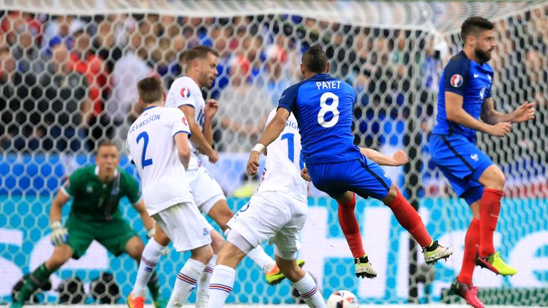 Dimitri Payet puts France 3-0 up