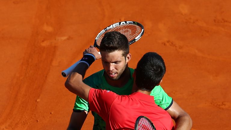 Djokovic lost to Jiri Vesely in three sets in the second round at Monte Carlo earlier this year