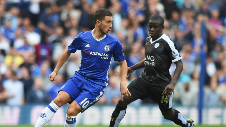 N'Golo Kante (right) has sealed a £32m move to Chelsea from Leicester