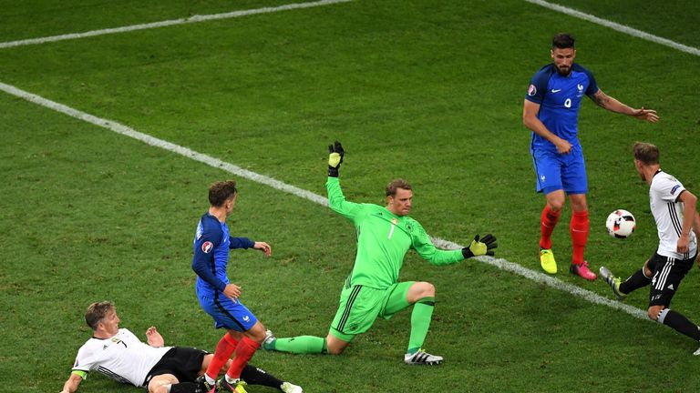 Antoine Griezmann scored the decisive second goal in the semi final against Germany