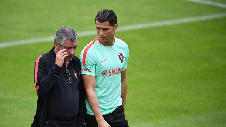 Image result for Ronaldo Portugal and Santos