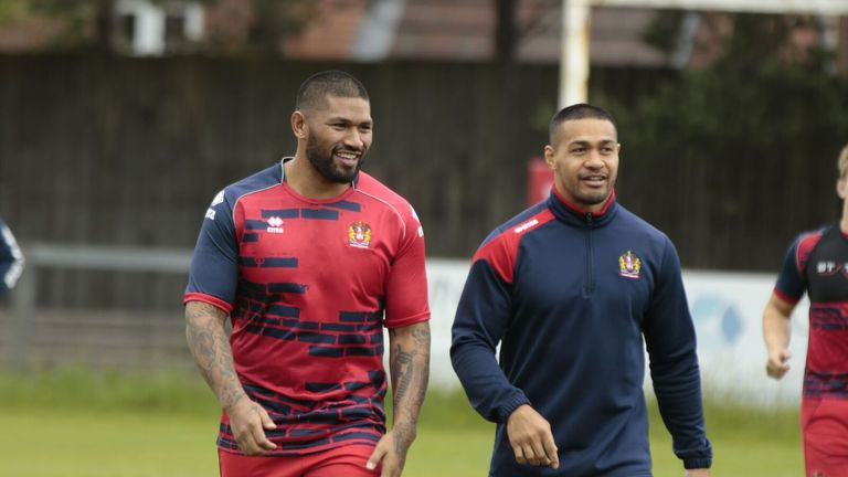 Frank-Paul Nu'uausala (left) won an NRL Grand Final with the Roosters