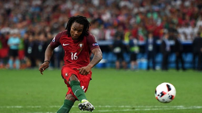 Renato Sanches is the youngest scorer in the knockout stages of a European Championship