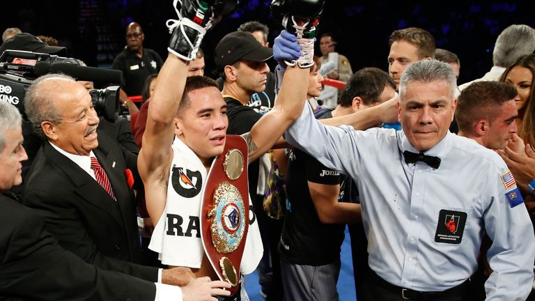 An emotional Valdez fulfilled a dream by becoming WBO world featherweight champion