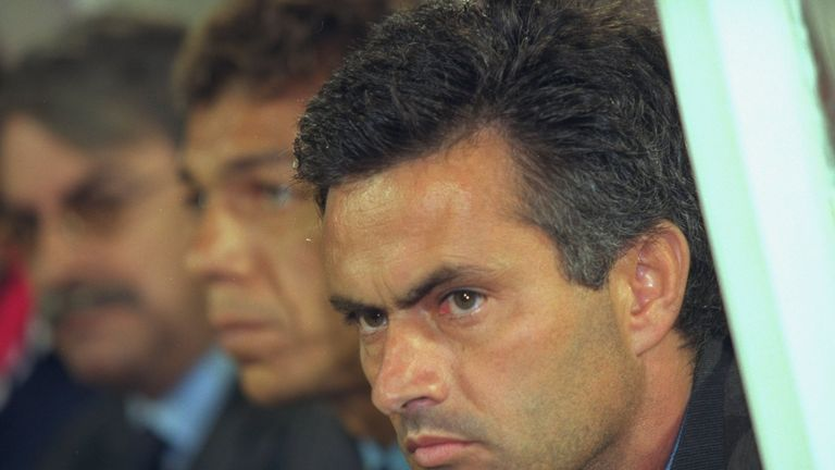 Mourinho's management career began with Benfica in the autumn of 2000