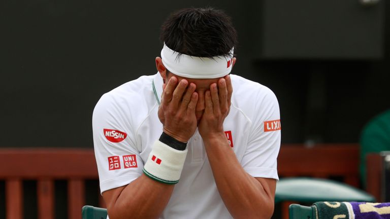 The sight of an Kei Nishikori has become too frequent