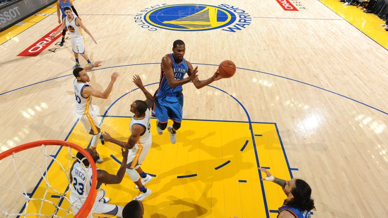 Durant airborne against Golden State in this year's play-offs