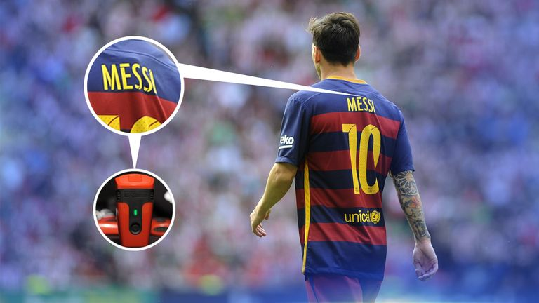 Barcelona's Lionel Messi wore a Viper pod in the opening weeks of last season